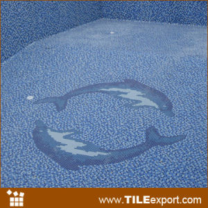 China dolphin swimming pool mosaic pattern pool87 china swimming pool mosaic swimming pool tile for Poole dolphin swimming pool prices