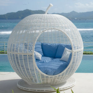 Spherical Dome Sunshine Lounge Beach Circular Garden Furniture Rattan Sun Daybed T579 pictures & photos