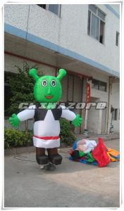 Funny Shrek Cartoon Character Inflatable Movable Cartoon Costume