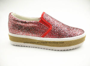 New Style Slip on Women′s Jute Shoes with Rubber Outsole (ET-LD160115W)