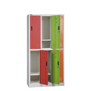 Powder Coating Factory Hot Sale High Quality Custom Assembled 6 Door Metal Storage Locker /Steel Bathroom Cabinet pictures & photos