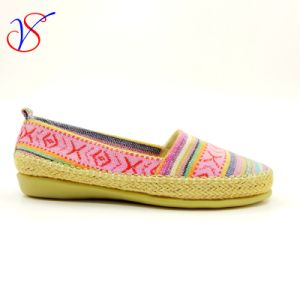 Six Color Soft Comfortable Flax Lady Women Shoes Sv-FT 011b