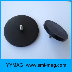 Rubber Coated Neodymium Pot Magnet for Car Holder pictures & photos