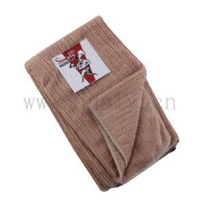Coffee Wood Grain Microfiber Cleaning Cloth Chef