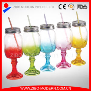2016 Hottest Products Colorful Juice/Beverage Glass Mason Jar with Lid for Straw pictures & photos