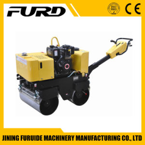 800kg Hydraulic Transmission Double Drum Walk Behind Vibratory Roller pictures & photos