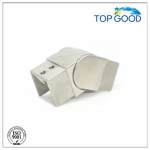 Stainless Steel Square Shape Flexible/ Adjustable Downward Slot Tube Connector (53181)