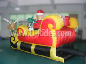 Inflatable Santa Claus cartoon with Deer Car pictures & photos