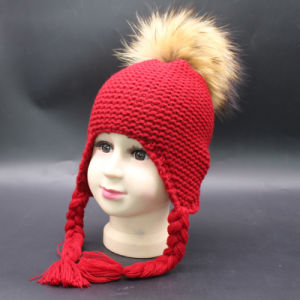 6ef486672e2 Children Home Prefer Outdoor Kids Infants Toddler Earmuffs Girls Boys Real  Fur POM POM Peruvian Beanie