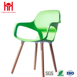 wholesale leisure chair dining chair with wood leg