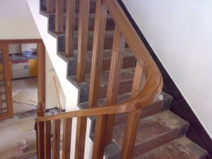 Sapele Teak Solid Wood Staircase For Railing