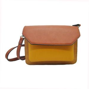 Simple Style Woman Shoulder Bag Contrast Color PU Clutch Bag Wholesale Leather  Crossbody Bag