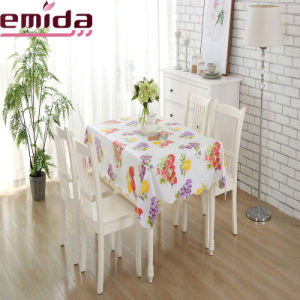 New Hot Sale Homestyle Waterproof Fruit Printing PVC Tablecloth