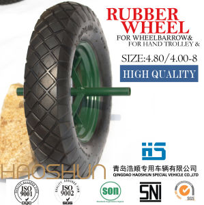 Pneumatic Wheelbarrow Barrow Rubber Wheel Tire Hand Tools 4.80/4.00-8 pictures & photos