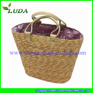 Luda Handmade Practical Wheat Straw Beach Bag