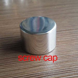 24mm Shiny Silver Aluminium Screw Bottle Cosmetic Lid/Cover/Cap pictures & photos