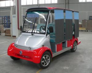 6 Seats Electric Sightseeing Car with Wind Cover From Dongfeng on Sale
