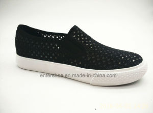 Slip on Women Casual Shoes with Glitter Upper (ET-YH160108W)