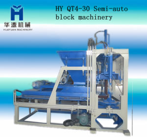 2013 Newly Semi-Automatic Hollow Solid Mud Brick Machine, Qt4-30 Semi Automatic Block Making Machine