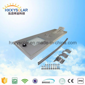China Supplier All in One Solar LED Street Light Lamp (HXXY-ISSL-100) pictures & photos