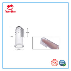 Food Grade Silicone Finger Toothbrush for Baby pictures & photos