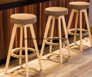 Super Nordic Solid Wood Bar Chair Fashion Rotating Bar Chair Contracted High Bar Stools Household Stool Chair M X3398 Machost Co Dining Chair Design Ideas Machostcouk