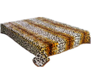 Hot Sale 100% Polyester Raschel Blanket Sr-B170305-18 Soft Printed Mink Blanket