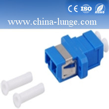 Duplex LC Fiber Optic Adapter Blue Color