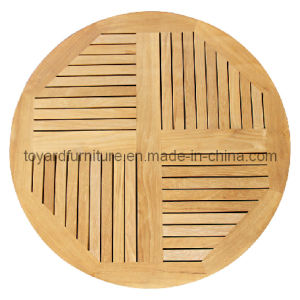 Outdoor Garden Dining Restaurant Use Garde a 35′′d Burma Teak Round Table Top