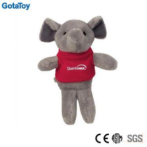 Competitive Price Factory Custom Plush Toy Elephant with Cotton Shirt