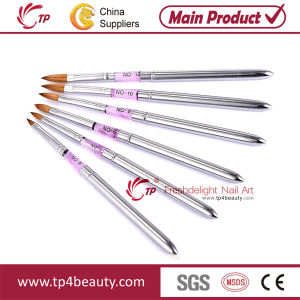China Kolinsky Sable Nail Art Brushes With Stainless Handle Tp Ab02