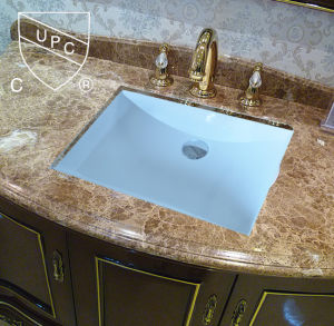 Wholesale USA Market Hot Sale Undermount Cupc Ceramic Sink (SN017)