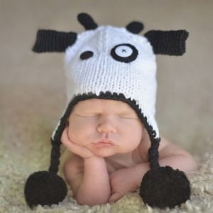 China The Cute Cow Children Beanie Hat (XT-CB003) - China Knitted ... 04eb263b514