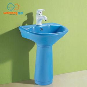 [Waxiang Wb 2100]Child China White Mini Porcelain Pedestal Sink Toddler