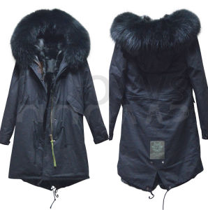 c041888967 China Jacket Winter Coat Thicken Slim Female Raccoon Fur Collar and Long  Coat Women Parka Winter Coat Plus Size S-3xl - China Black Fur Parka, Parka