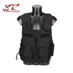 017 Tactical Vest Net Yarn Back with Reflective Strip Molle Breathable Adjustable Military Airsoft Outdoor Hunting Clothing pictures & photos