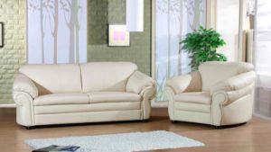 Modern Hotel Sofa Hot Selling Leather Sofa Double Set (L063)
