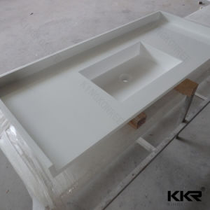 Acrylic Stone Resin Solid Surface Bathroom Counter Top (180130) pictures & photos