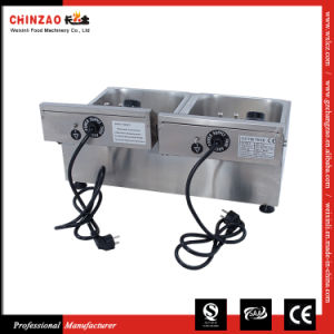Double Tank Commercial Countertop Electric Deep Fryer Dzl-20b pictures & photos