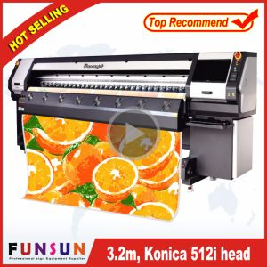 Funsunjet Fs-3208K 10FT /3.2m Heavy Duty Solvent Printer with 8 512I Heads Fast Speed 240 Sqm Per Hour pictures & photos