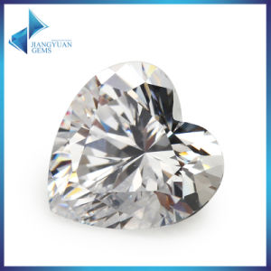 Loose Gemstones Heart Shape Cubic Zirconia Stone pictures & photos