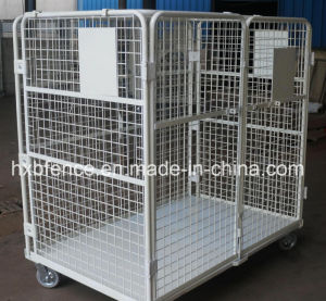 Foldable Metal Warehouse Cargo Stackable Storage Cage pictures & photos