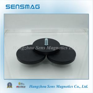 Manufacture High Quality Permanent Magnetic Ferrite Pot Magnet with RoHS pictures & photos