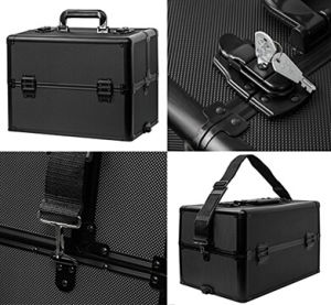 New Design 4-Wheel Rolling 2in1 Makeup Train Cosmetic Case pictures & photos