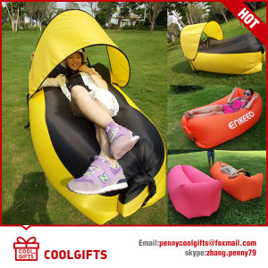 2016 Newest Inflatable Lazy Sofa Air Sleeping Bed with Sunshade pictures & photos