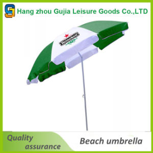 Wooden Waterproof Printing Easy up Straight Market Umbrellas