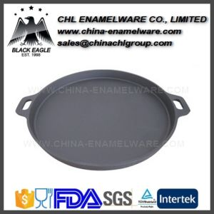 Amazon Wholesale Smokeless Enamel Cast Iron Fry Pan Skillet pictures & photos