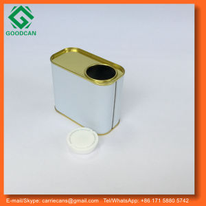 Small Empty Rectangle Tin Can with Lid for Chemical Paint Packing
