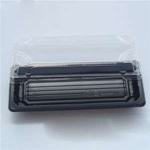 Disposable Plastic BOPS Sushi Box black for Sushi/Seafood/Snack pictures & photos