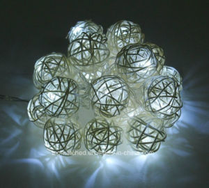LED Rattan Balls Multicolor Cotton LED String Lights for Outdoor String Lights pictures & photos